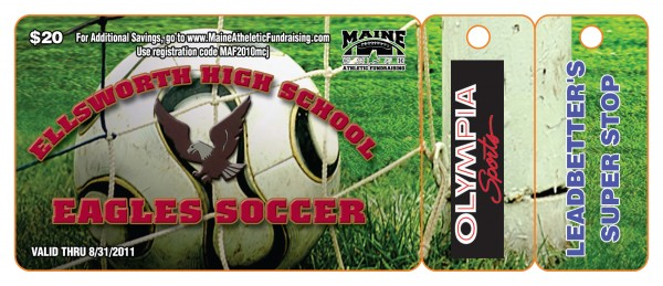Ellsworth Soccer Fundraiser 2010 Premium Gold Card