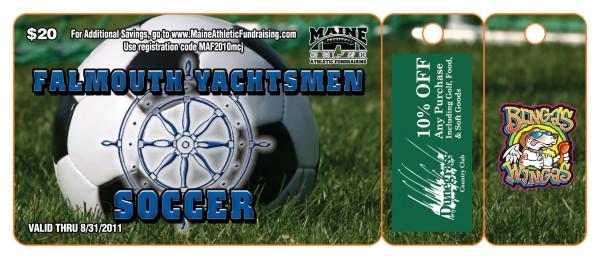 Falmouth Soccer Fundraiser 2010 Premium Gold Card
