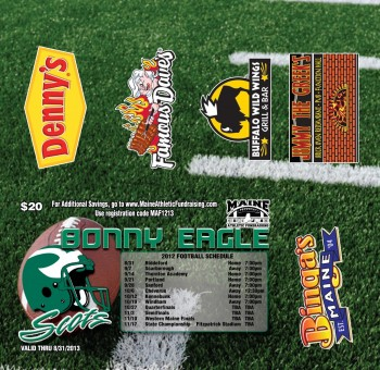 Bonny Eagle Football 5 Key Tag